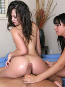 Naughty brunette pornstar kristina rose always loves sharing the cock with a sexy girlfriend. this time they both get their pussies pounded brutally,