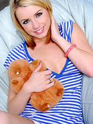 Lexi belle plays with toys
