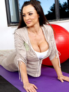 Lisa ann is a  yoga instructor who has a student that isn't keeping up with the regimen. when he gets to her place, lisa can see he hasn't been stretc