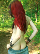 Liz vicious gets naughty in the woods