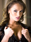 Tori black strips out of lace lingerie before fucking herself with a dildo in this photo set