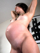 Look what happens when horny pregnant bimbo going wild in private. tags: milky tits, shaved cunt, sex toy.