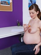 Milky boobs real pregnant gfs looking so hot while teasing on a cam.