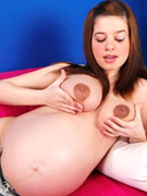 Sex hungry real pregnant chicks getting naked and teasing on a cam while in private.