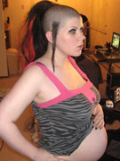Pregnant tegan in tiger lingerie wants to have sex