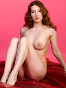 Gorgeous natural redhead ivy manner spread wide