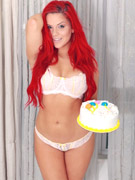 Xxx pics of young redhead girl slips out her bikini and toying her itchy twat poolside.