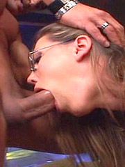 Repairman fills gorgeous black woman asshole with his horny cock