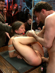 The on camera slave girl action features great hardcore fucking