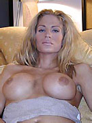 Country girl shemale with cowsized tits needs a good milking