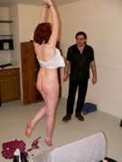 Breast bonded sub hanged and whipped by dom - 3 part 1