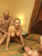 Free homemade porn with beautiful swinger wives playing with cock