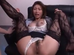 Sexy asian doll banged doggy style by a white cock for a few bucks