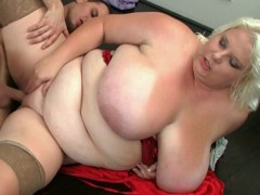 Black chubby mom can't get enough of this hard butt plowing.