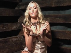 Tight elbow bondage and vibrator