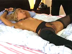 Sexy girl next door bound for the ultimate skull fucking! severely arched, nipples stretched, vibrator locked into place. rough deep throat action!