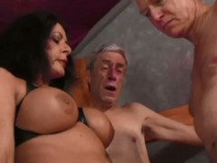 Hot mistress smoking a cigarette punishes her slave badly