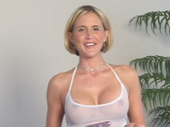 Hot blonde milf wife gives guy his first fuck ever