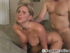 Chubby blonde milf in her first fucking with stranger guy.