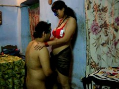 Pigtailed indian teen slut trying to swallow a huge man's meat