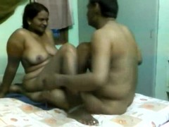 Young indian couple bedroom doggy style and blowjob
