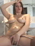 Awesome blonde donna dildoin her tight pussy in fishnet stockings. her body made to fulfill your sexual fantasies.