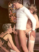 Seventies schoolgirl stuffed deep by an horny old geezer