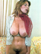 Big boobied vintage milf with enormous tits going wild.