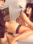 Stunning retro lady enjoys a hard cock inside her tight twat
